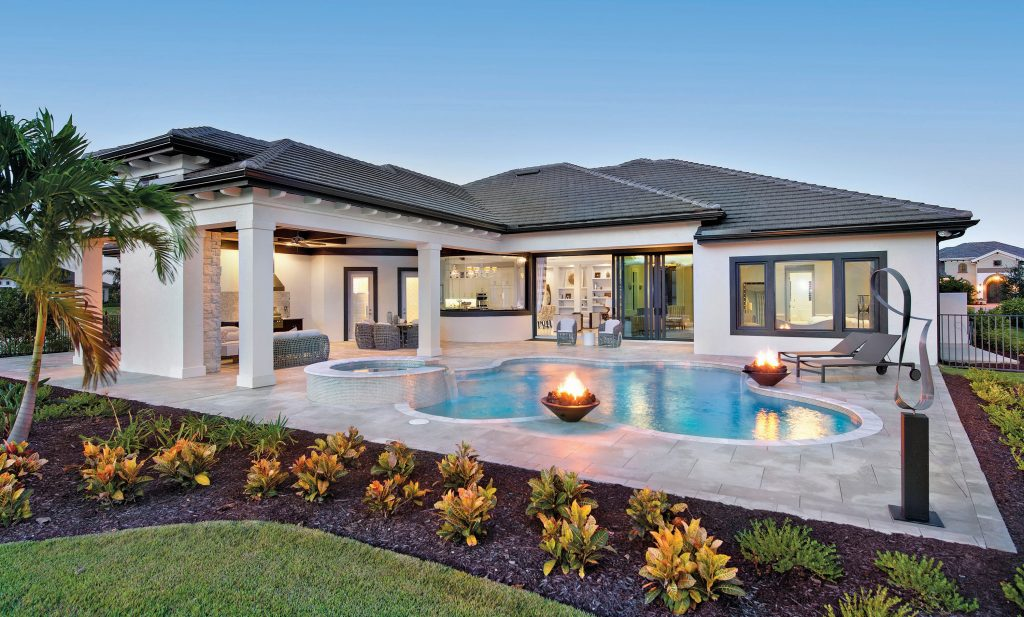Beautifully furnished models, inventory homes available immediately at Quail West
