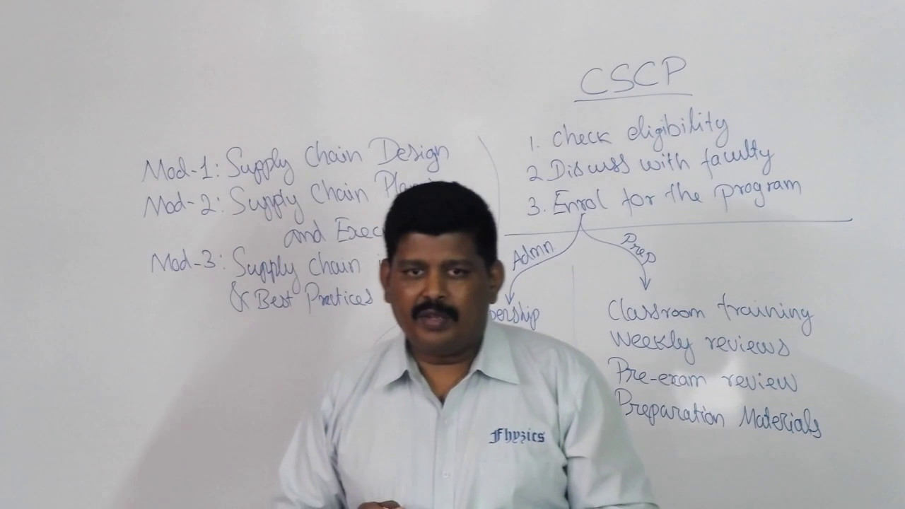 Supply Chain: CSCP Certification Process