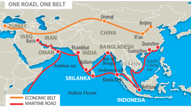 China's 'Belt and Road', e-commerce to redefine shipping lines