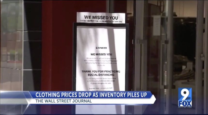 Clothing prices drop as inventory piles up