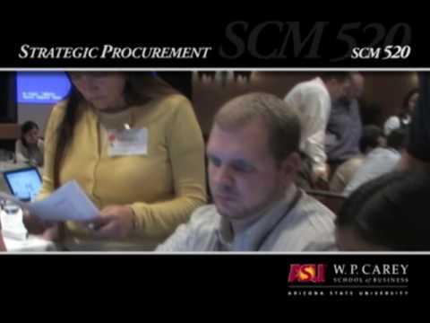 Strategic Procurement Course Overview – ASU's W. P. Carey School